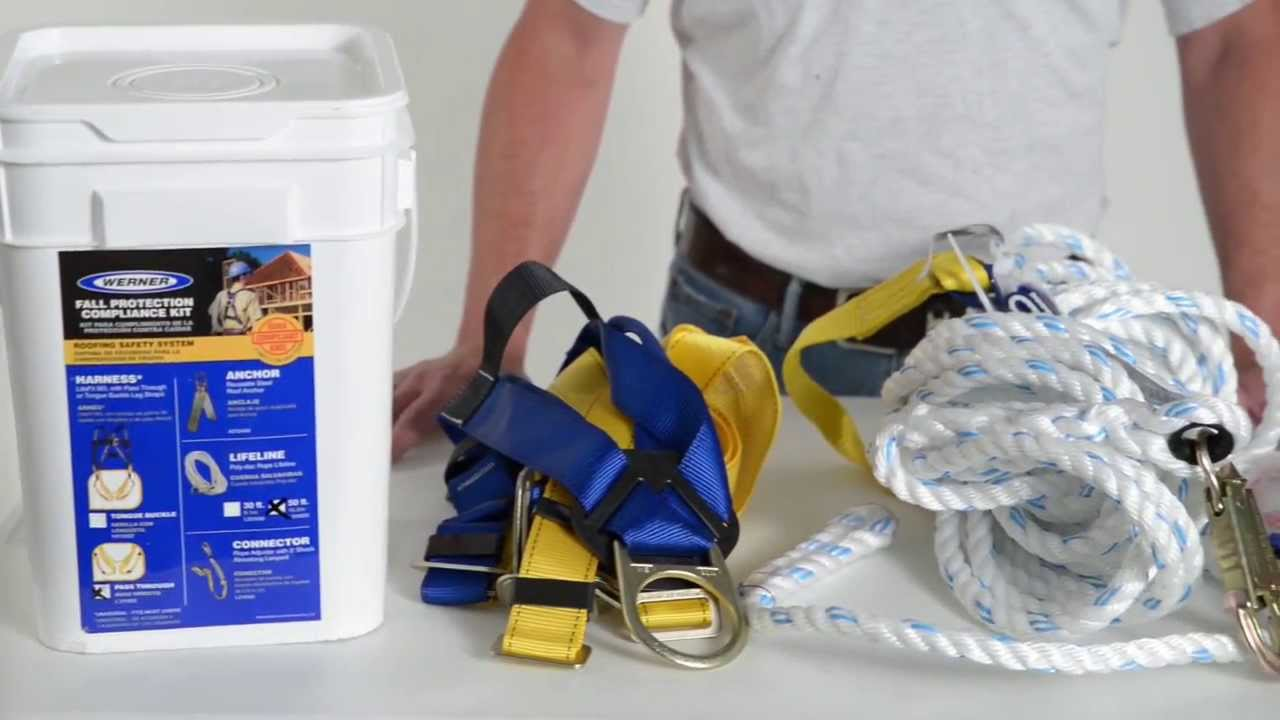 Werner Ladder   Fall Protection Roofing Compliance Kit