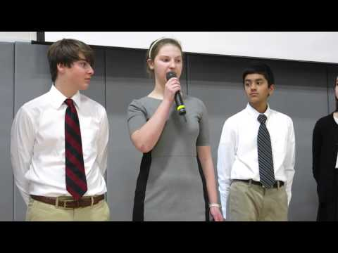 "Foote School 8th Graders Recite MLK's ""I Have a Dream"" Speech"