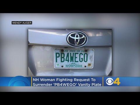 SHROOM - Woman Fights To Keep 'PB4WEGO' Vanity Plate