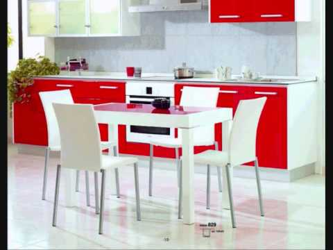 Mesas y sillas cocina salvany 2 youtube - Mesas de cocina plegables de pared ...