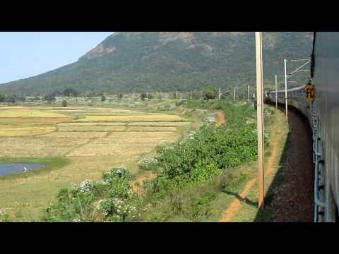 Kirandul Visakhapatnam Passenger negotiating beautiful curve after Jeypore