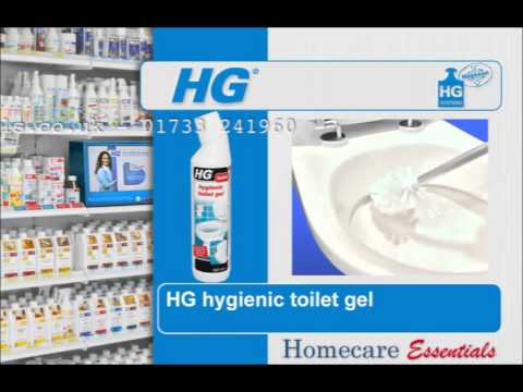 HG Hygienic Toilet Gel - How to Clean and Descale a Toilet on a Regular Basis