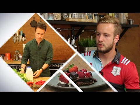 What do elite, Premiership Rugby players eat after training?