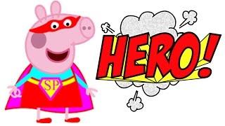 Мультики про Супергероев СУПЕР ПЕППА. Мультфильмы для детей. Новая серия Peppa Pig 2016