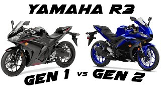 2019 Yamaha R3 teardown and 1st generation R3 to 2nd generation R3 front suspension/tank swap