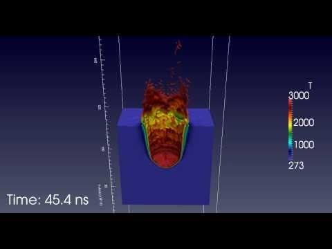 Simulated Laser Via Copper Feature Drilling