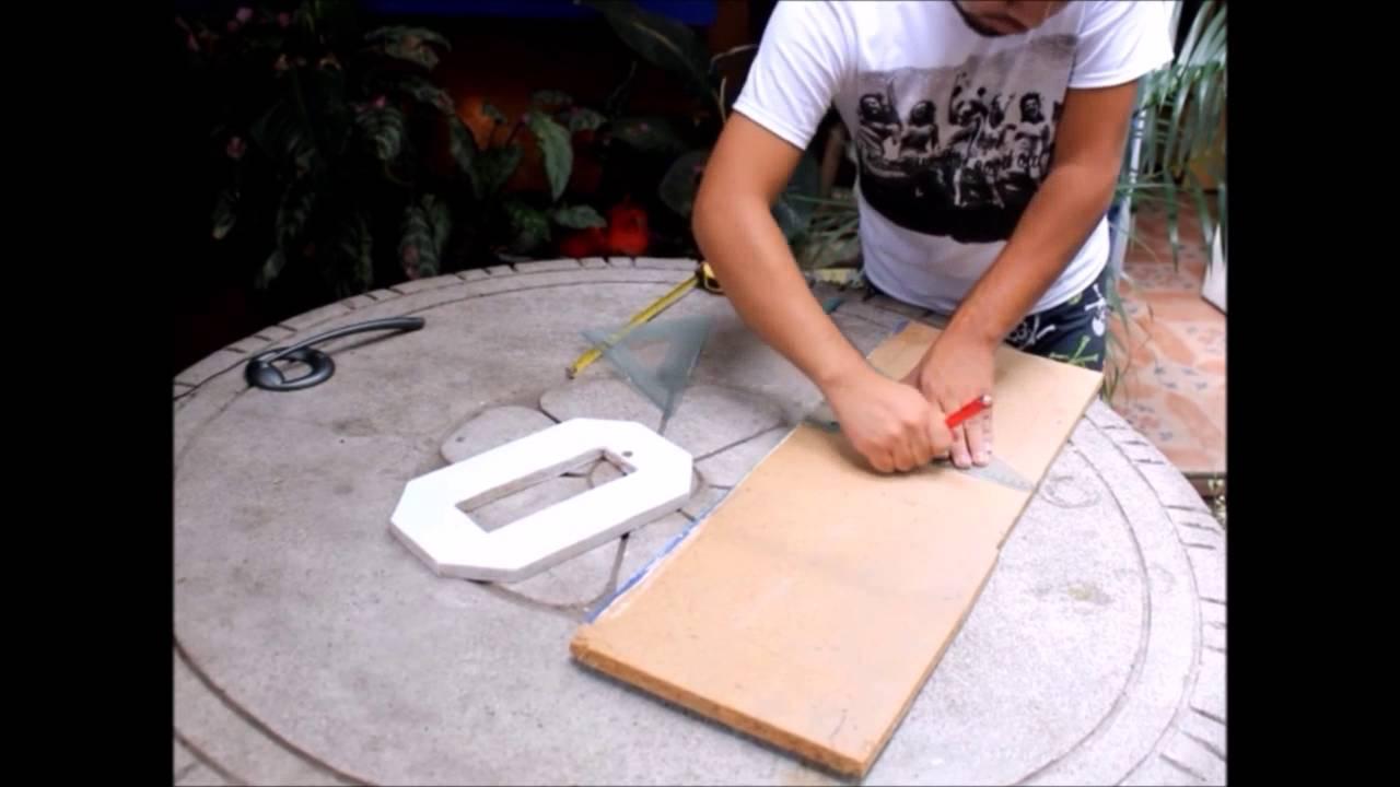como hacer letras de madera youtube