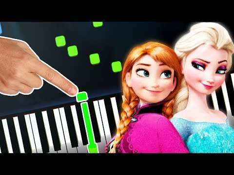Frozen 2 - Theme Song (All Is Found - OST) EASY Piano Tutorial (Sheet Music + midi) Synthesia cover thumbnail