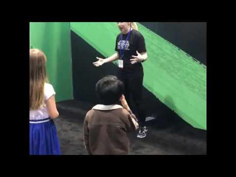 J exercises with Ashley Eckstein
