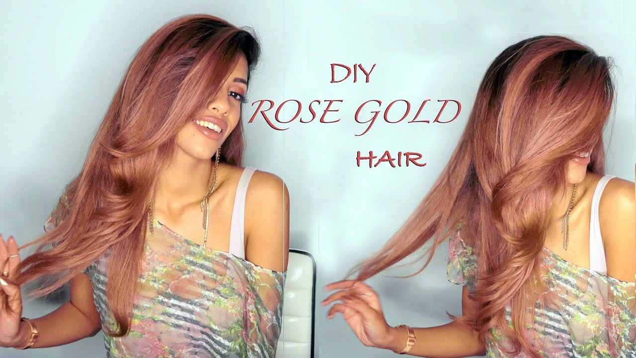 Diy Rose Gold Hair Tutorial Ariba Pervaiz