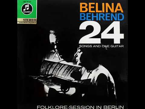 Belina - Siegfried Behrend: 24 Songs And One Guitar LP 1963