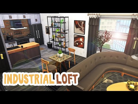 Industrial Loft || The Sims 4 Apartment Renovation: Speed Bu