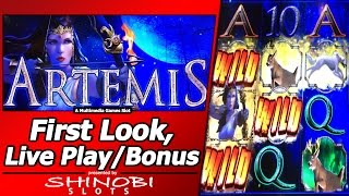 Artemis Slot - First Look, Live Play and Bonus in New Multimedia Games title