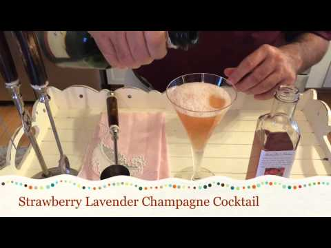 Strawberry Lavender Champagne Cocktail for Mother's Day