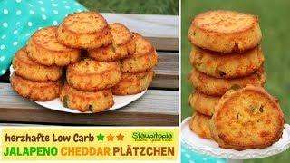 Die Low Carb Snack Idee für Abends, Unterwegs oder Zwischendurch: Jalapeno Cheddar Plätzchen