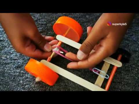 Rubber Band Car | Science Project for kids | 10 min Project