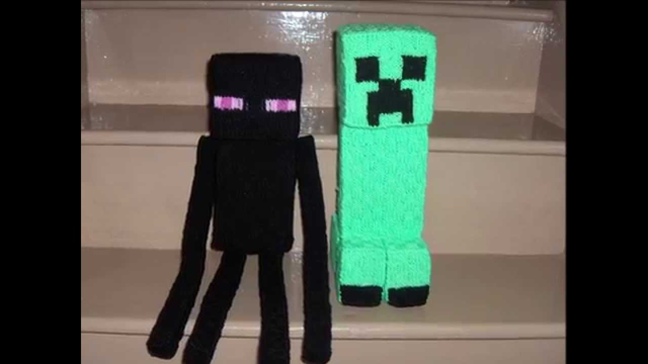 Knitted Creeper & Enderman - Minecraft Inspired - YouTube