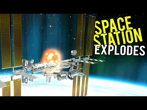 SPACE STATION EXPLODES AND CRASHES INTO THE EARTH! - Disassembly 3D Gameplay