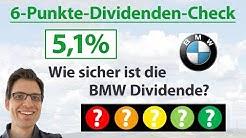 BMW Aktie: Wie sicher ist die Dividende? | 6-Punkte-Dividenden-Analyse