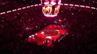 Chicago Bulls United Center team introduction 2012 season o