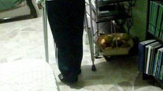 Ruptura tendón de Aquiles: Rehabilitación Día 55 despues de operación.