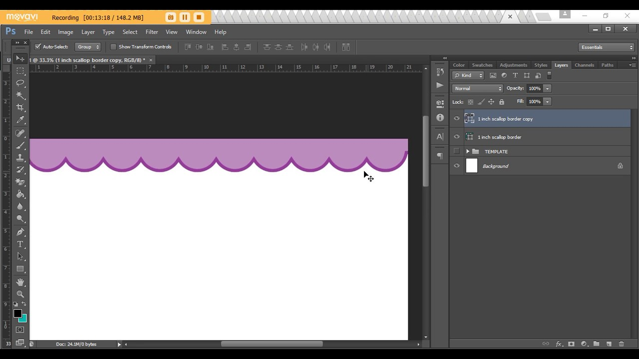 How To Make A Scallop Edge Border In Photo Step By Tutorial