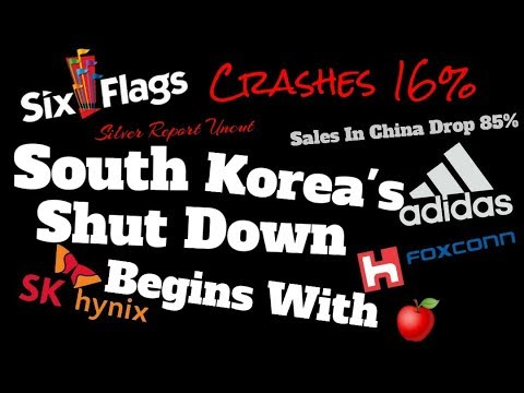 Productions Halts Begin In South Korea At A Key Apple Supplier! Six Flags Shares Plunge 16%...
