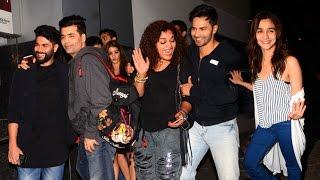 Badrinath Ki Dulhaniya Movie Wrap Up Party 2016 Full Video HD - Alia Bhatt,Varun,Karan Johar