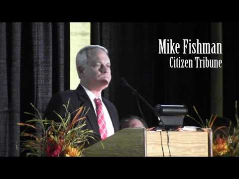 Chamber presents Community Service Award to R.  Michael Fishman