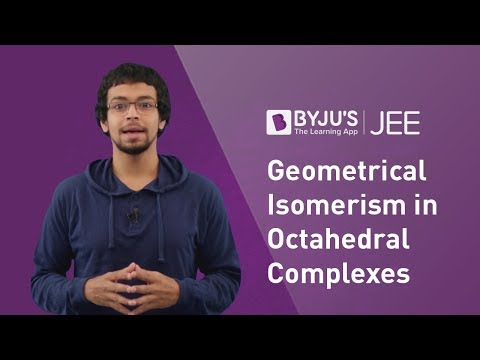 JEE Concept - Geometrical Isomerism in Octahedral Complexes - Coordination  Compounds