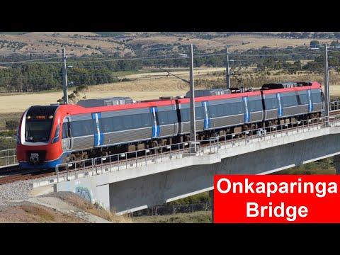 Trains On The Onkaparinga Rail Bridge; South Australia's Longest - Adelaide Metro
