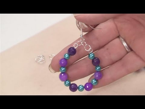 How To Make Hoop Earrings With Beads Youtube