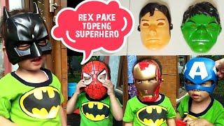 Rex Pakai Topeng Superhero 😂 Keren dan Lucu   Super Hero Mask
