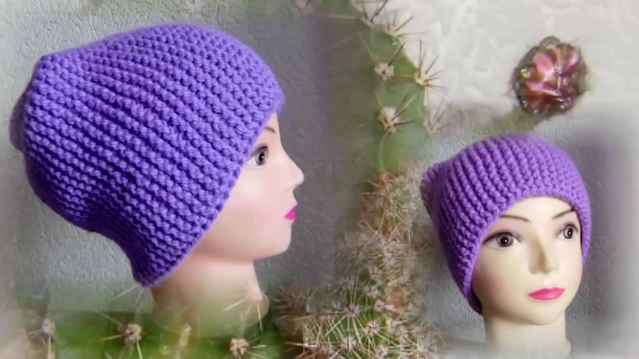 Шапка – бини спицами. Работа сауле вагаповой, вязание для женщин.