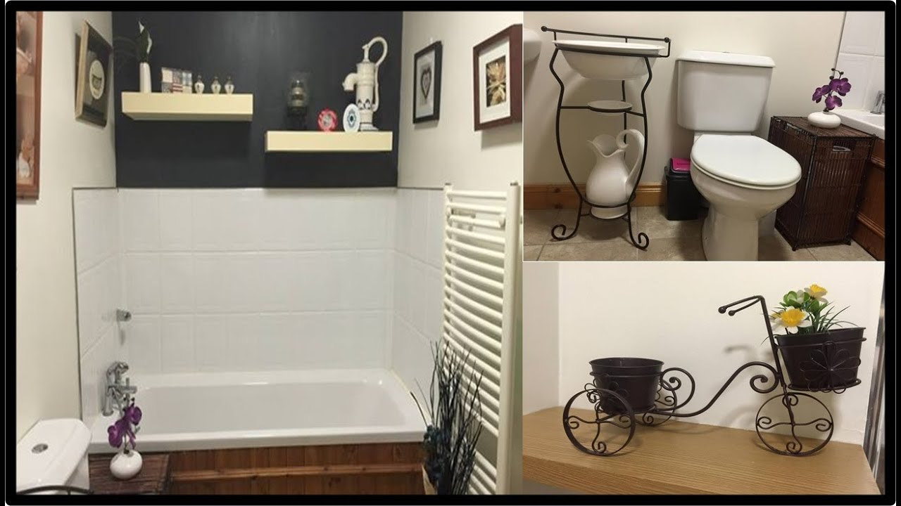 TOUR PELO BANHEIRO MODERNO E VINTAGE εïз ALINE FORDE  YouTube -> Banheiro Vintage Moderno