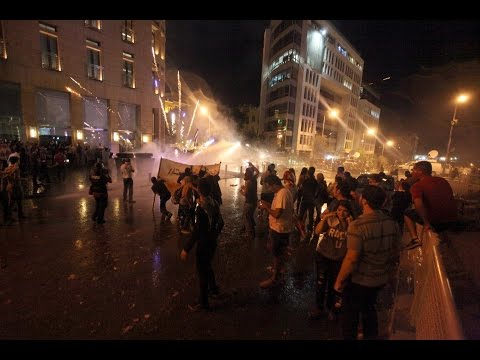 Anti-government protest in Beirut turns violent