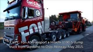 Gambar cover Hitachi dump truck transported i Norway.
