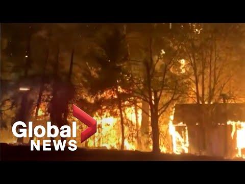 Oregon wildfires: Buildings burn as