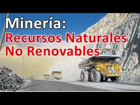 Minerales Recursos Naturales NO Renovables