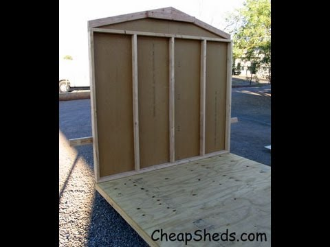 How To Build Gable End Walls With Your Garden Storage Shed Plans Video