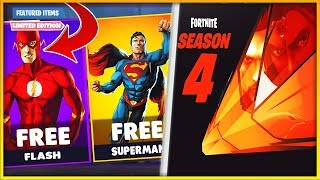 SEASON 4 Coming TOMORROW!! Nouveaux Emotes - Superhero SKINS dans Fortnite Battle Royale!!