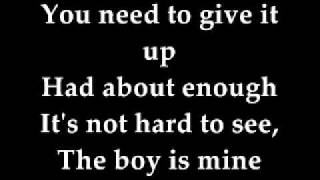 The Boy is Mine Lyrics - Glee Cast