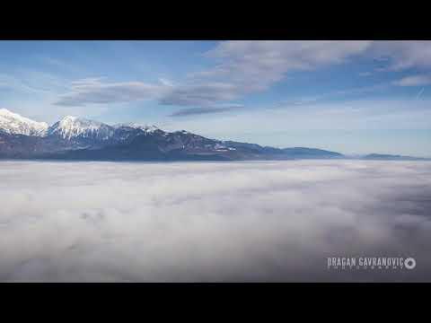 Land breathes and fog moves | Slovenia Ljubljana basin Time Lapse
