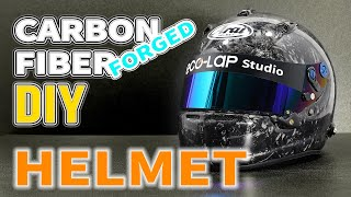 How to Make a Forged Carbon Fiber Helmet [DIY] (Making Split Mold & Helmet)