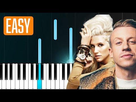 "Macklemore - ""Good Old Days"" ft Kesha 100% EASY PIANO TUTORIAL"
