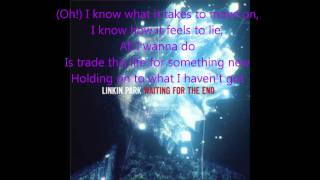 Linkin Park- Waiting For The End (Instrumental with lyrics on screen)