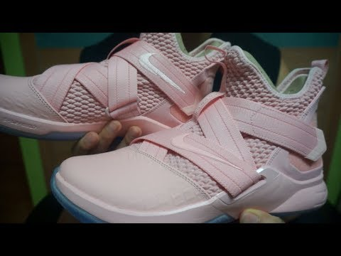more photos ce971 aa5a0 Nike Lebron Soldier 12 Pink  First look   On-feet