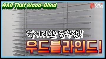 ENG/우드블라인드/ 고급스런 중후함의 대명사! 우드블라인드의 장,단점은?? 블라인드마스터 오부리와 함께 알아보자!(What is the Wood blind?)