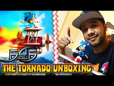 Sonic & the Tornado Statue First4Figures UNBOXING