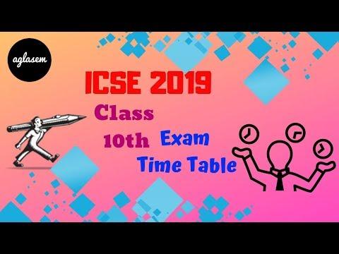 ICSE 2019   Exam Schedule   Aglasem